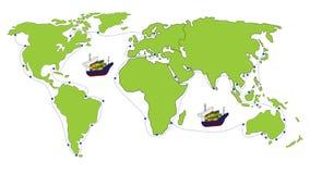 Frachtowy transport Obrazy Stock