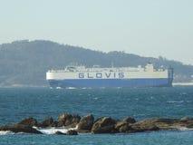 Frachtschiff bestimmt für Transport Stockfoto