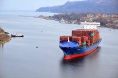 Frachtschiff CALISTO Stockfoto