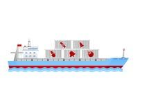Frachtschiff mit Behältern Lizenzfreie Stockfotos