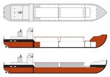 Frachtschiff mit Einflussdetails Stockfoto