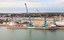 Frachtschiff Vlieborg Lizenzfreies Stockbild