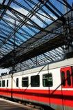 Frachty pociąg pasażerski Obraz Stock
