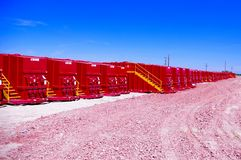 Frack-Behälter Stockfotografie