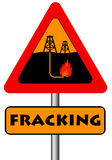 Fracking. Dangers and pollution involved with fracking technology Stock Photography