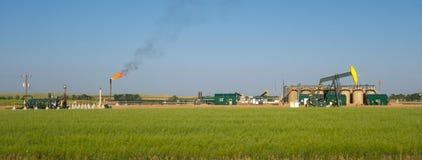 Fracking dans le Dakota du Nord photo libre de droits