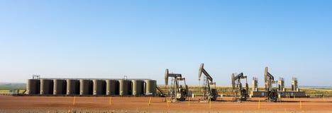 Fracking em North Dakota imagem de stock