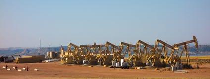 Fracking em North Dakota fotos de stock