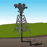Fracking Oil Rig. An image of a fracking oil rig Royalty Free Stock Photo