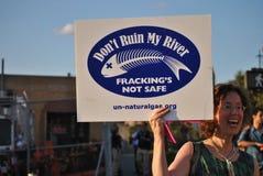 Fracking protest royaltyfri fotografi