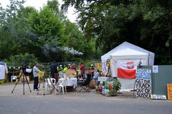 Fracking Proteste Balcombe Lizenzfreies Stockbild