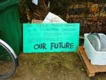 Fracking Terremoto Crawley, Sussex Reino Unido foto de archivo