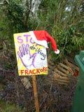 Fracking Terremoto Crawley, Sussex Reino Unido fotos de archivo libres de regalías
