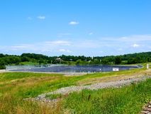 Fracking Water Pond Stock Photo