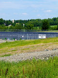 Fracking Water Pond Royalty Free Stock Photos