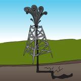 FrackingsBooreiland Royalty-vrije Stock Foto