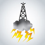Frackingsolie Rig Symbol Stock Afbeeldingen