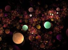 Fractal ótico 01 das esferas da luz da arte ilustração stock