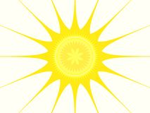 fractal ήλιος στοκ εικόνα με δικαίωμα ελεύθερης χρήσης