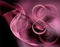Fractal αφαίρεση και σχήμα 8 Διεθνής ημέρα γυναικών ` s Στοκ Εικόνες