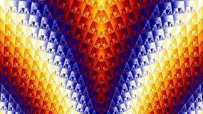 Fractal γραφική παράσταση ζωηρόχρωμα τρίγωνα Στοκ Εικόνα