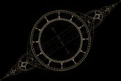Fractal λεπτό βραχιόλι σε ένα μαύρο υπόβαθρο διανυσματική απεικόνιση