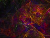 Fractal η αφηρημένη ζωηρόχρωμη μελλοντική επιφάνεια δίνει τη διαφήμιση, στοκ εικόνα