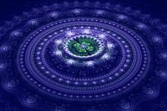 Fractal ιουλιανό ομόκεντρο κύμα κύκλων στοκ φωτογραφία