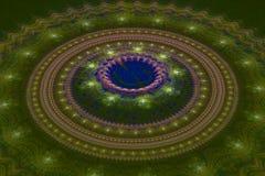 Fractal ιουλιανό ομόκεντρο κύμα κύκλων στοκ εικόνα