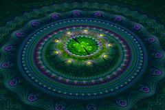 Fractal ιουλιανό ομόκεντρο κύμα κύκλων στοκ φωτογραφία με δικαίωμα ελεύθερης χρήσης