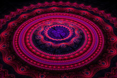 Fractal ιουλιανό ομόκεντρο κύμα κύκλων στοκ εικόνες