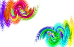 Fractal καπνός ουράνιων τόξων κυμάτων watercolor στοκ φωτογραφία με δικαίωμα ελεύθερης χρήσης