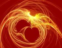 fractal καρδιά Στοκ Εικόνες
