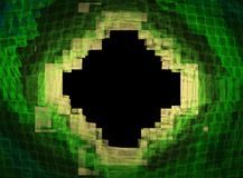 Fractal κιτρινοπράσινος ρόμβος σε ένα μαύρο υπόβαθρο απεικόνιση αποθεμάτων