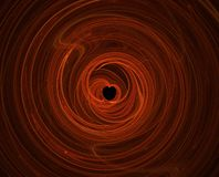 fractal κόκκινο καρδιών που δι&alpha Στοκ Εικόνα