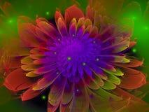 Fractal λουλουδιών η περίληψη φουτουριστική, σχέδιο, δίνει στοκ φωτογραφία με δικαίωμα ελεύθερης χρήσης