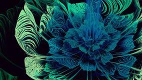 Fractal λουλουδιών Abtract μπλε ελαφριά τέχνη Στοκ Φωτογραφίες