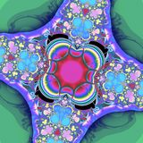 Fractal: Λουλούδια και φωτεινά χρώματα στοκ εικόνες