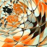 Fractal με τη ζωηρή και εντυπωσιακή πορτοκαλιά πορτοκαλιά διαγώνια κάρτα λουλουδιών διανυσματική απεικόνιση