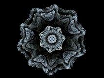 Fractal μπλε λουλούδι διανυσματική απεικόνιση