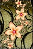 fractal λουλουδιών ασημένιες σπείρες απεικόνιση αποθεμάτων