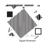 fractal λουλουδιών σχεδίου καρτών ανασκόπησης μαύρο καλό λευκό αφισών ogange Στοκ Εικόνα