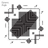 fractal λουλουδιών σχεδίου καρτών ανασκόπησης μαύρο καλό λευκό αφισών ogange Στοκ φωτογραφία με δικαίωμα ελεύθερης χρήσης