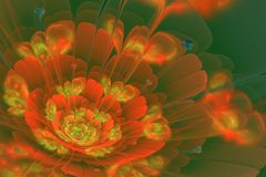 Fractal λουλούδι με τις καρδιές Απεικόνιση αποθεμάτων