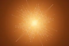 Fractal στοιχείο με τις γραμμές και τα σημεία ενώσεων Μεγάλα στοιχεία σύνθετα Γραφική αφηρημένη επικοινωνία υποβάθρου ελάχιστος Στοκ Εικόνες
