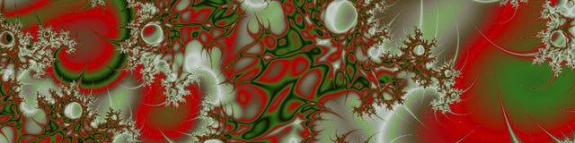 Fractal στροβίλων αμπέλων σύσταση πράσινος, κόκκινος και άσπρος απεικόνιση αποθεμάτων