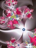 Fractal σχέδιο λουλουδιών ελεύθερη απεικόνιση δικαιώματος