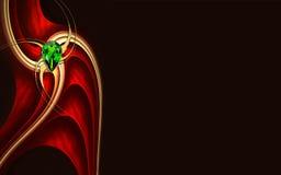 fractal σχεδίου ανασκόπησης φ&omega Στοκ Εικόνες