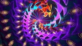 fractal σχεδίου καρτών ανασκόπησης καλή αφίσα πορφυρή σπείρα Υψηλός λεπτομερής βρόχος φιλμ μικρού μήκους
