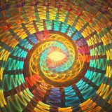 fractal σχεδίου καρτών ανασκόπησης καλή αφίσα Στοκ Εικόνα